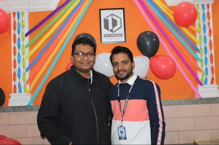 guests-techdost-birthday-party-celebration-software-company-office-meerut-delhi-ncr