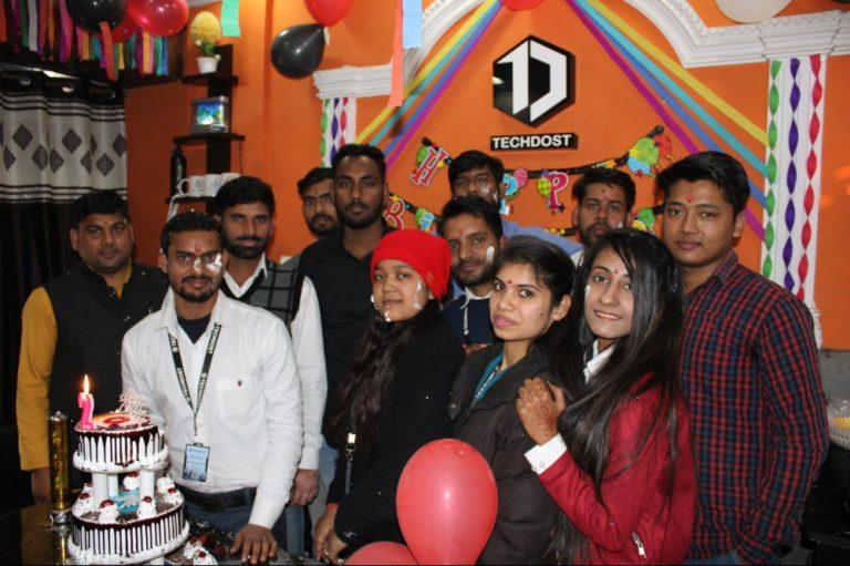 techdost-team-birthday-party-celebration-website-design-company-office-delhi-ncr-meerut