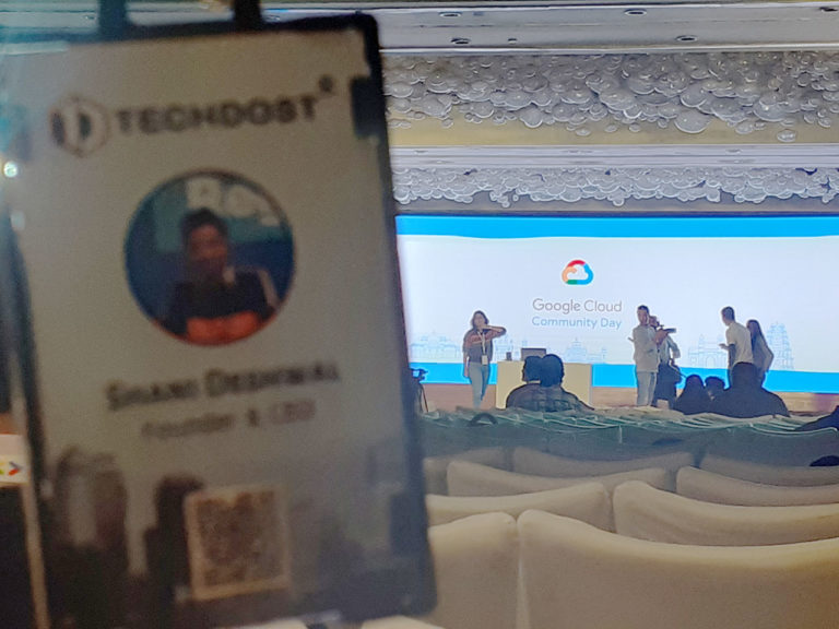 google-cloud-community-day-techdost-website-designer-developer-delhi
