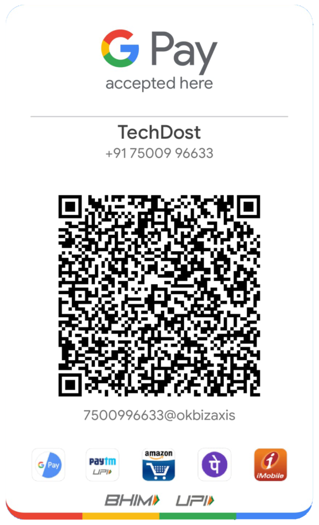 TechDost-Google-Pay-QR-Code